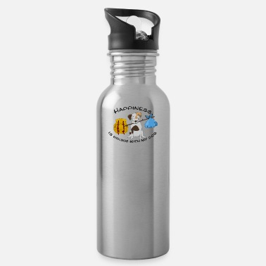 Dogowner Hiking Dogowner Dog Backpacker Nature Pet Love - Water Bottle
