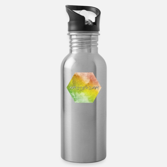 Travel Mugs & Drinkware - Amsterdam - Water Bottle silver