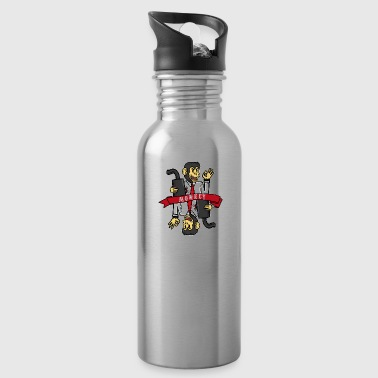 Zodiac sign monkey - Water Bottle