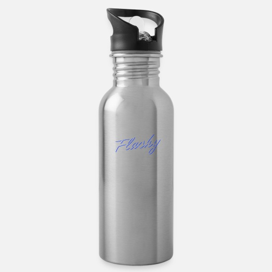 Rap Mugs & Drinkware - Flashy Striking STREET WEAR - Water Bottle silver