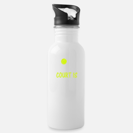 Tennis Match Mugs & Drinkware - Tennis, tennis ball, tennis rackets, grand slam - Water Bottle white