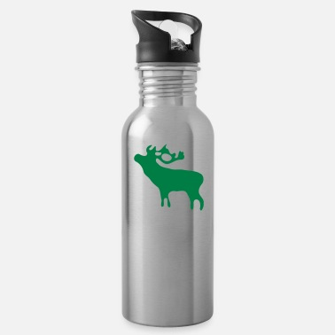 Red Deer Deer - Water Bottle