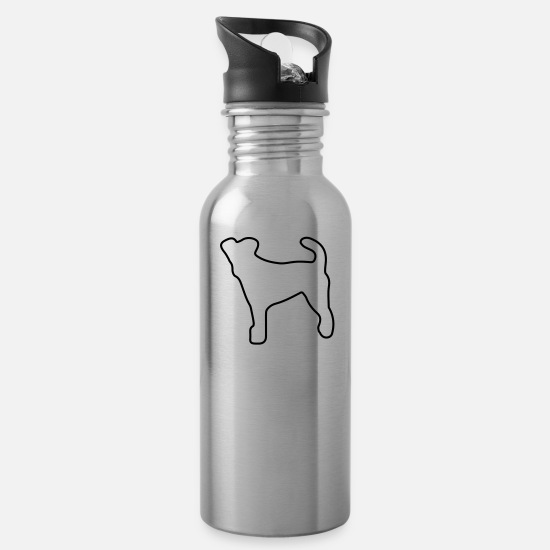 Terrier Mugs & Drinkware - fox_terrier3 - Water Bottle silver