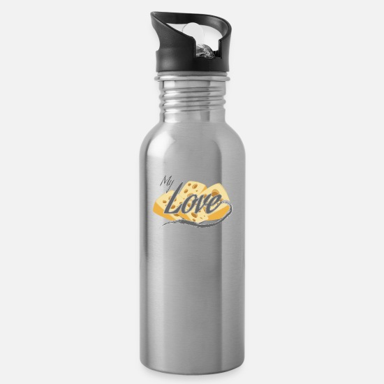 Bless You Mugs & Drinkware - cheese - Water Bottle silver