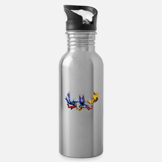 Parachute Mugs & Drinkware - skydivers - Water Bottle silver