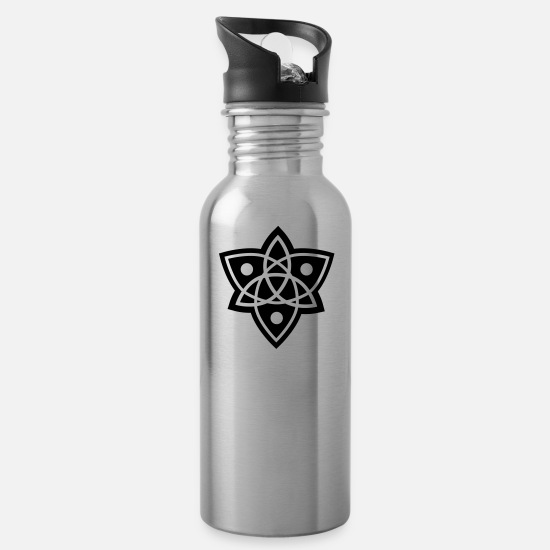 Mandala Mugs & Drinkware - mandala - Water Bottle silver