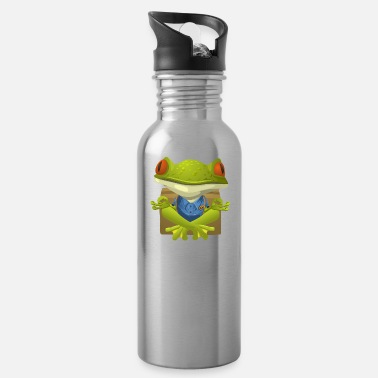 FUNNY FROG YOGA COLLECTION - Water Bottle