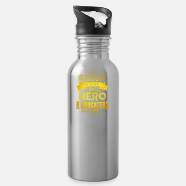 Hero Father's gift Father's Day Love Dad's birthday saying - Water Bottle