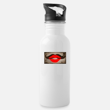 Kussmund kiss beard vintage - Water Bottle