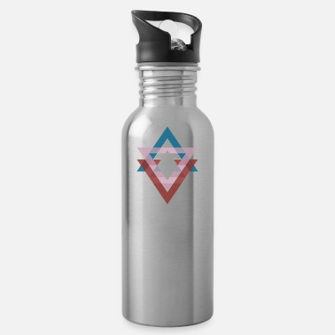Abstract Triangle graphic ocean breeze - Water Bottle