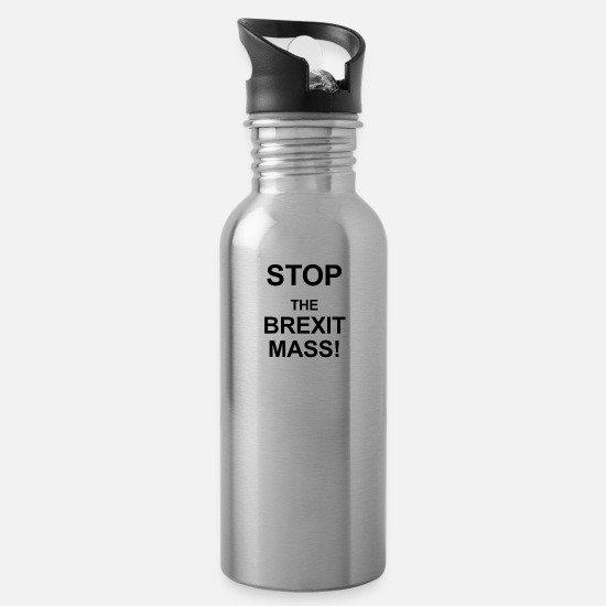 Eu Mugs & Drinkware - Stop the Brexit - Water Bottle silver