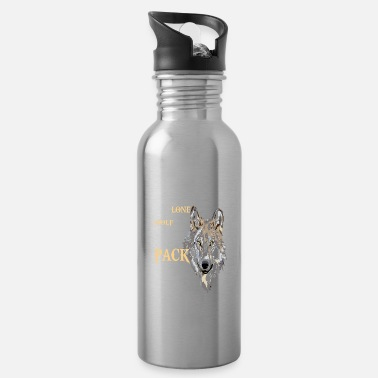 The Lone Wolf This but the Pack Survives - Water Bottle