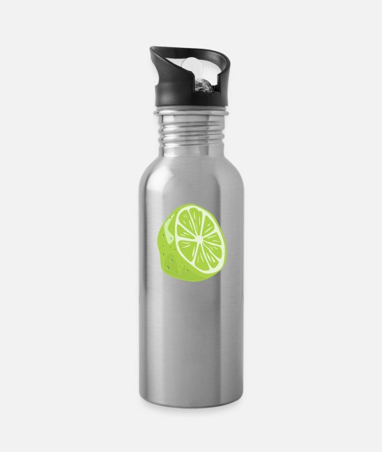 Hipster Mugs & Drinkware - lime - Water Bottle silver