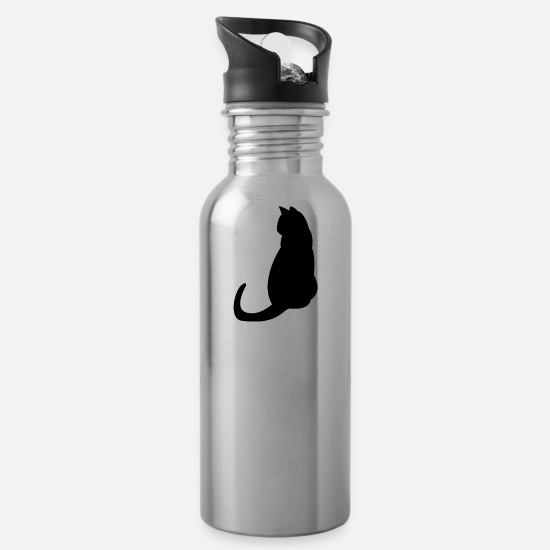 Pussycat Mugs & Drinkware - Kitten cat cats cats - Water Bottle silver