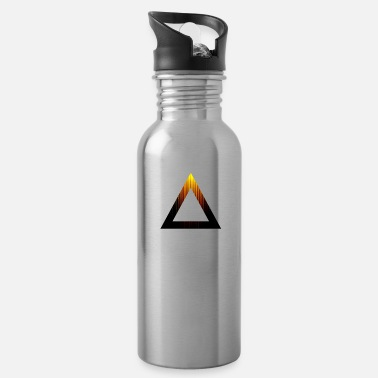Abstract Abstract Triangle - Water Bottle