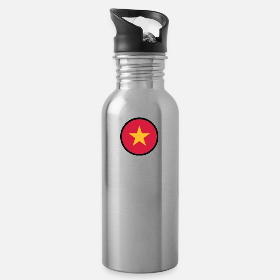 Country Mugs & Drinkware - Under The Sign Of Vietnam - Water Bottle silver