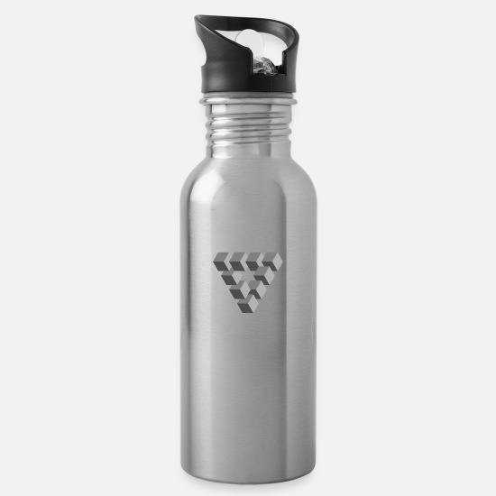 Gift Idea Mugs & Drinkware - Optical illusion - Water Bottle silver