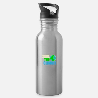 Carbon Dioxide Save the Climate - Safe the climate - Water Bottle