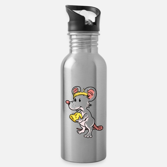 Mouse Mugs & Drinkware - Rodent mouse rodents king - Water Bottle silver