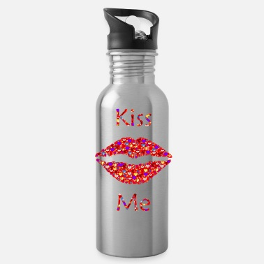 kiss me - Trinkflasche