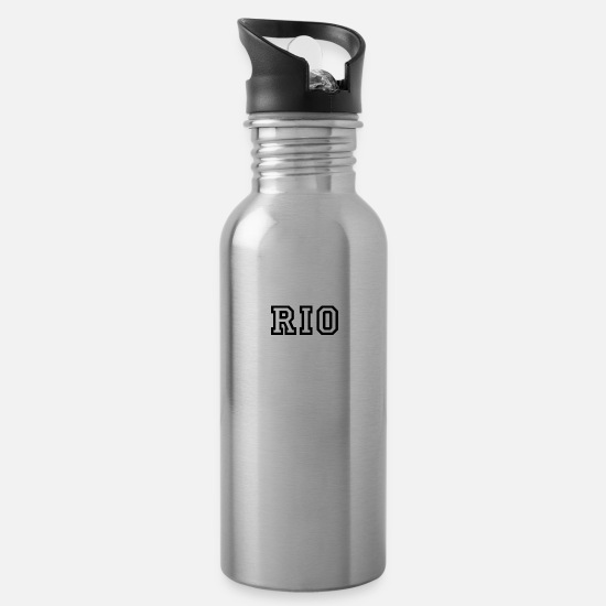Sports Mugs & Drinkware - Rio - Water Bottle silver