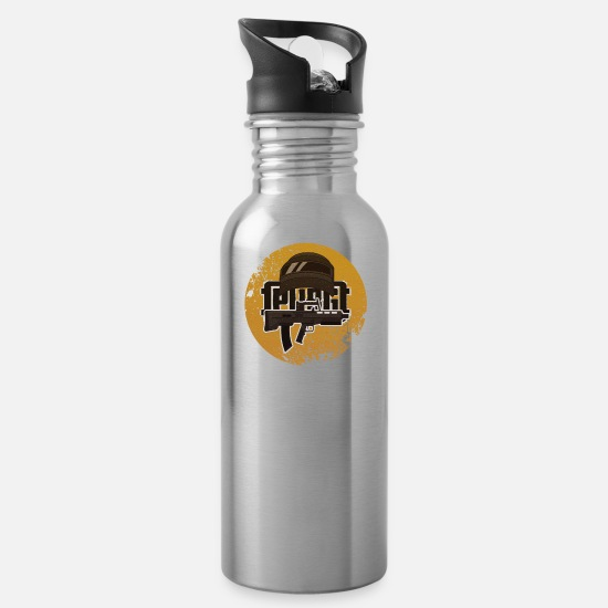 Conflict Mugs & Drinkware - Battle Shooter - Water Bottle silver