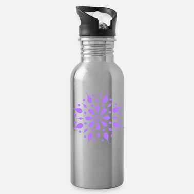 Lilac Mandala No. 12 lilac - Water Bottle