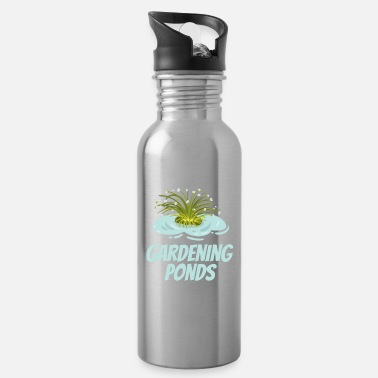 Pond Garden pond pond Koi love - Water Bottle