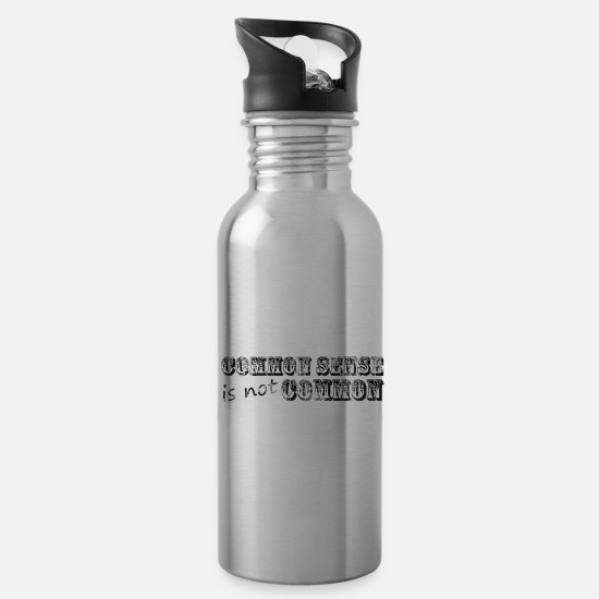 Cool Mugs & Drinkware - Say Quote Quote Slogan - Water Bottle silver