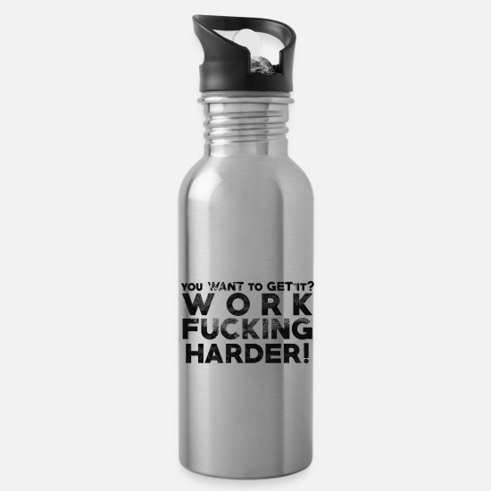 Quotes Mugs & Drinkware - Say Quote Quote Slogan - Water Bottle silver