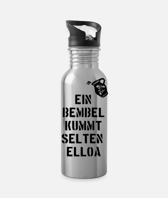 Tipple Mugs & Drinkware - Bembel - Frankfurt - Ebbelwoi - Water Bottle silver