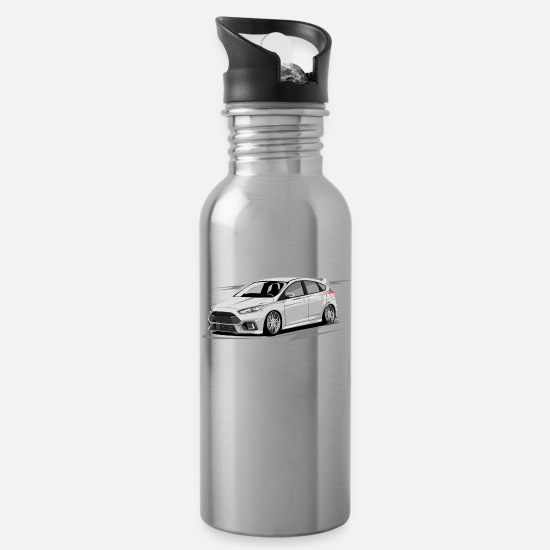 Ford Mugs & Drinkware - Focus MK3 RS without driver - Water Bottle silver
