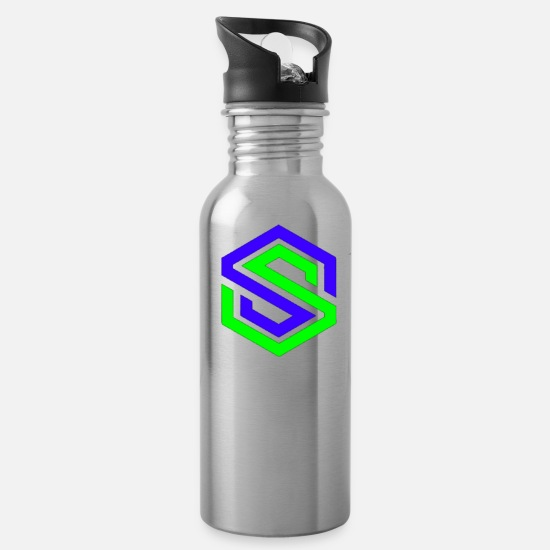 Logo Mugs & Drinkware - Basic - Water Bottle silver