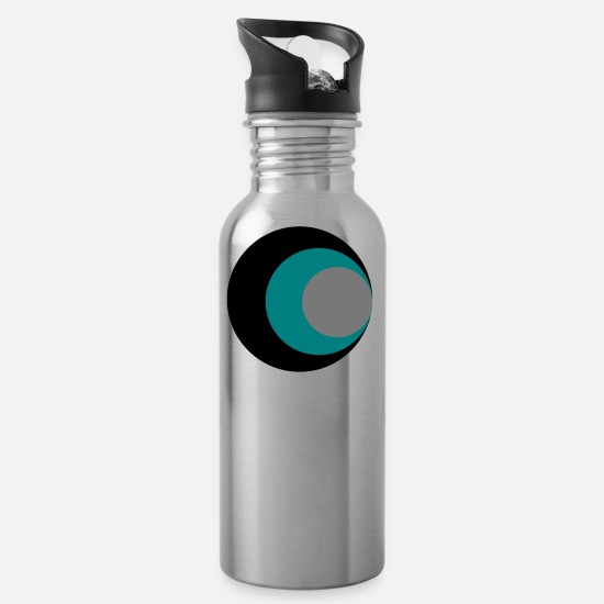 Eye Mugs & Drinkware - circles - Water Bottle silver