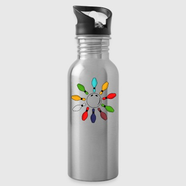 Bowling skittle gift vintage - Water Bottle