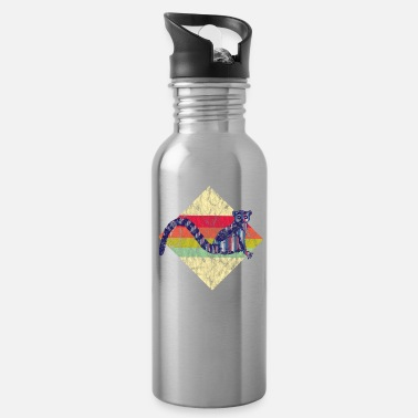 Retro Lemur Distressed Look - Water Bottle
