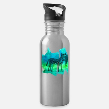 Zebra Stripes Zebra zebras zebra stripes t shirt - Water Bottle