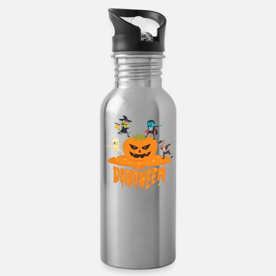 Trick Or Treat Mugs & Drinkware - Daboween Collection - Water Bottle silver