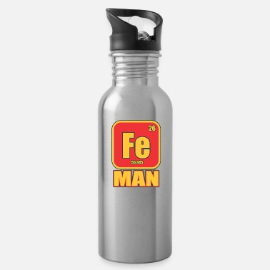 Iron Metal Iron Man Funny Costume Metal Element Gift - Water Bottle