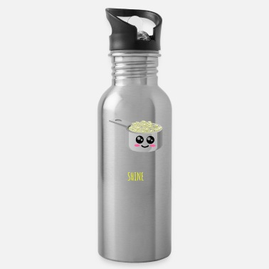 Rice Rice And Shine Cute Rice Pun - Water Bottle