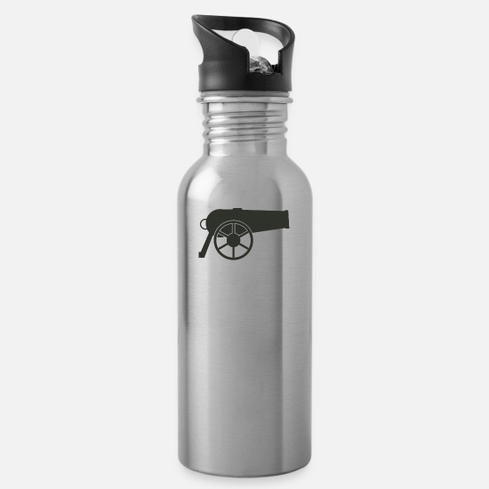 Cannon Mugs & Drinkware - Cannon - Water Bottle silver