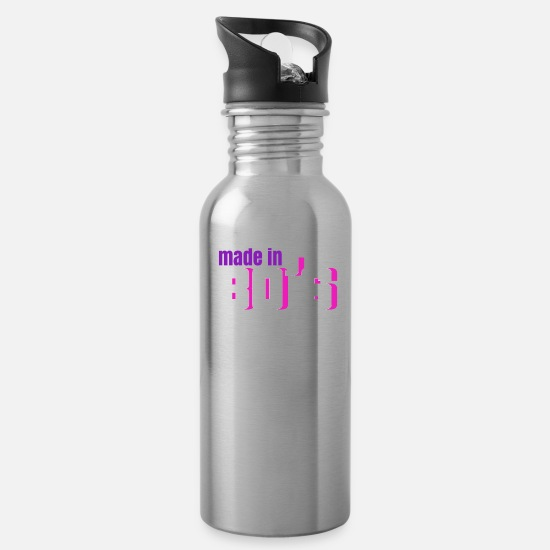 Birthday Mugs & Drinkware - 80s - Water Bottle silver