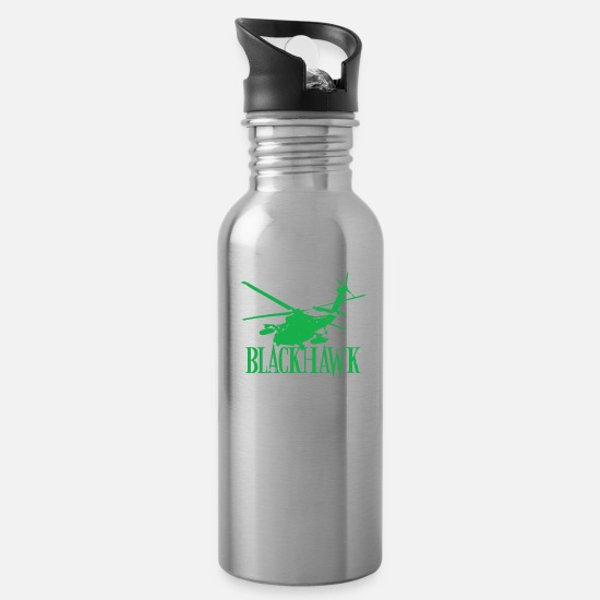Birthday Mugs & Drinkware - Blackhawk - Water Bottle silver