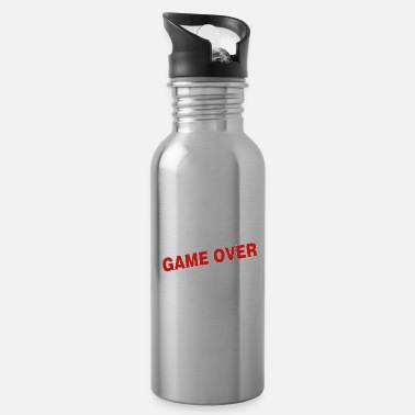 Over Game over - the game is over - Water Bottle