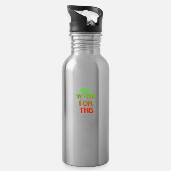 World Mugs & Drinkware - Internet - Water Bottle silver