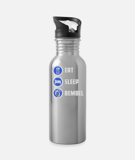 Sachsenhausen Mugs & Drinkware - Eat Sleep Bembel cider shirt - Water Bottle silver
