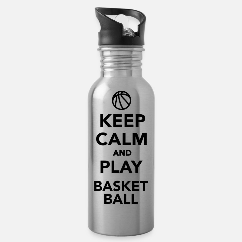 Basketball Mugs et gourdes - Keep calm and play Basketball - Gourde argent clair