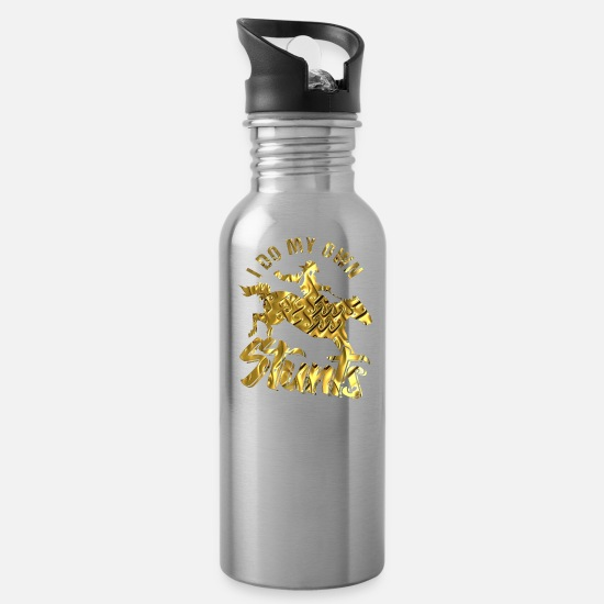 Gift Idea Mugs & Drinkware - rodeo - Water Bottle silver