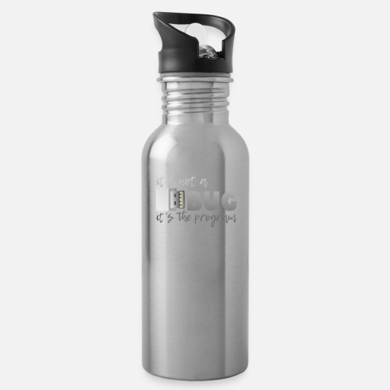 Program Mugs & Drinkware - This is not a bug shirt - Water Bottle silver