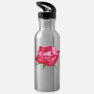 Pen Swirly Rose - Water Bottle